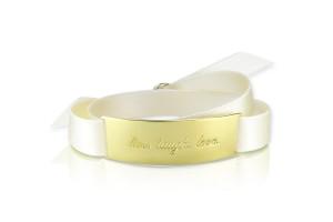 LIVE. LAUGH. LOVE. - Bridal White / Gold