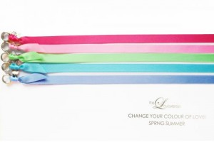 CHANGE THE COLOUR! SATINBAND Slim / Silber SPRING SUMMER Edition