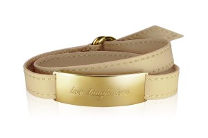 LIVE. LAUGH. LOVE. - Vanilla Cream / Gold LEATHER