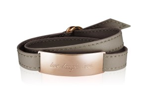 LIVE. LAUGH. LOVE. - Luxury Taupe / Rosegold LEATHER