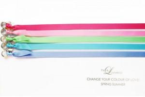 CHANGE THE COLOUR! SATINBAND Slim / Silber SPRING SUMMER Edition