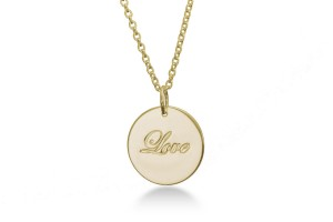 LOVE - Halskette Gold
