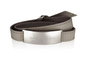 LIVE. LAUGH. LOVE. - Luxury Taupe / Sivershade / LEATHER