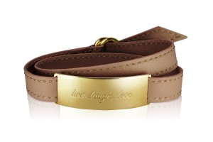 LIVE. LAUGH. LOVE. - Nougat Deluxe / Gold LEATHER